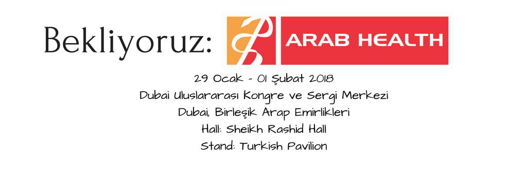 Meet us at ARAB HEALTH International Fair in Dubai